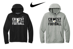 Nike Club Fleece Pullover Hoodie - CB WEST FOOTBALL