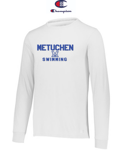 Champion Adult Long-Sleeve T-Shirt - Metuchen Swimming