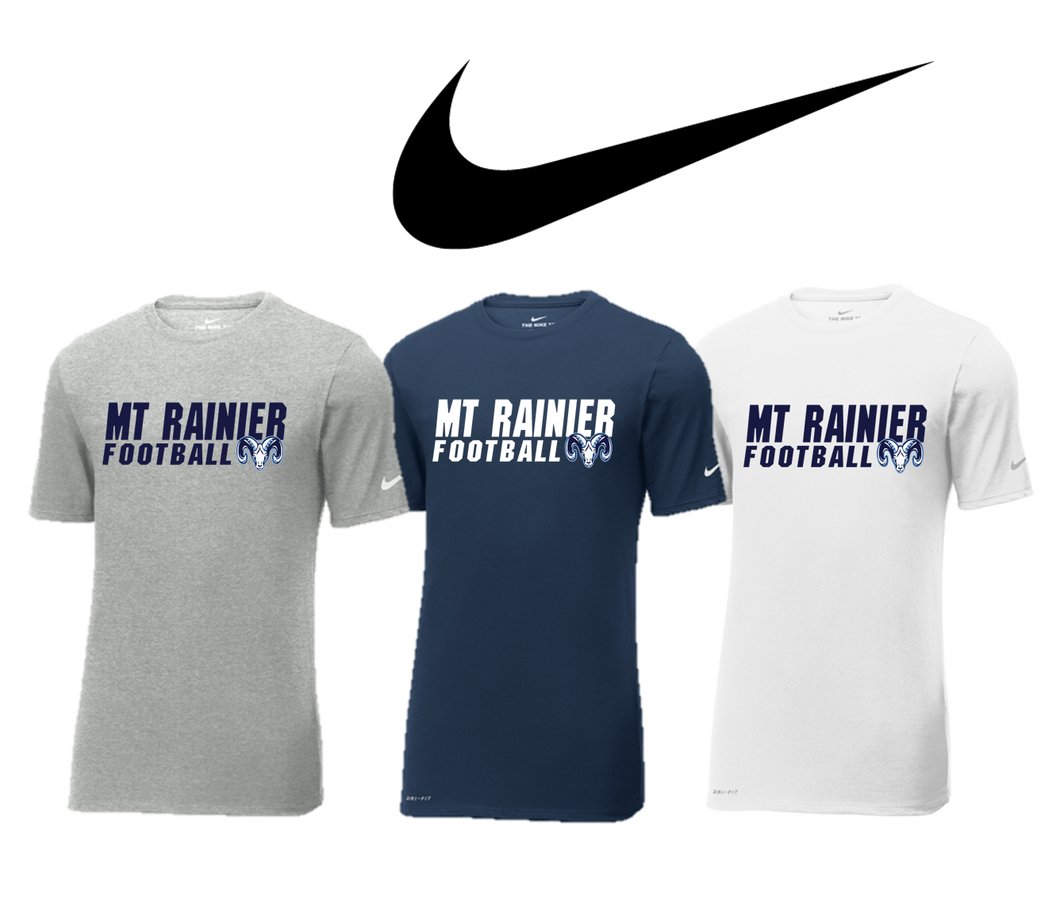 Adult Nike Dri-FIT TEE - MT. RAINIER FOOTBALL