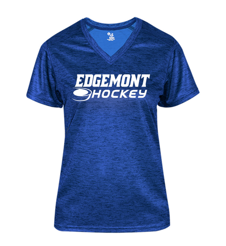 LADIES TONAL BLEND V-Neck - Edgemont Hockey