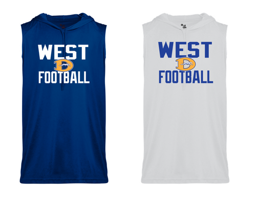SLEEVELESS HOOD TEE - Downingtown West Football