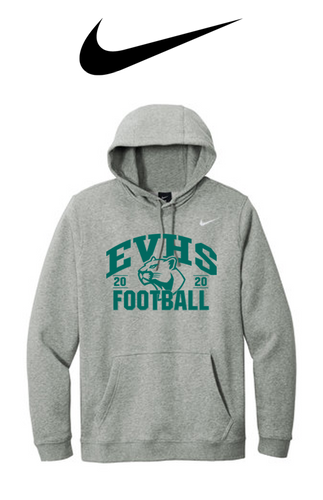 Nike Club Fleece Pullover Hoodie - EVERGREEN VALLEY FOOTBALL