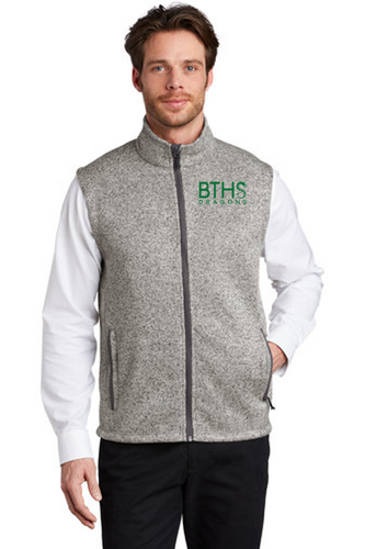 Adult Sweater Fleece Vest - Brick Staff
