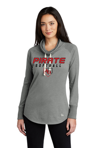 New Era Ladies Crowl Neck Long Sleeve - Ash Grove Softball