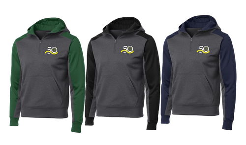 *Colorblock 1/4-Zip Hooded Sweatshirt - East Jersey Trout Unlimited