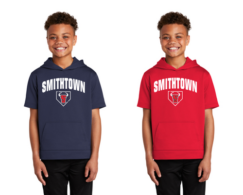 Fleece Short Sleeve Hoodie - YOUTH - Smithtown Youth Baseball