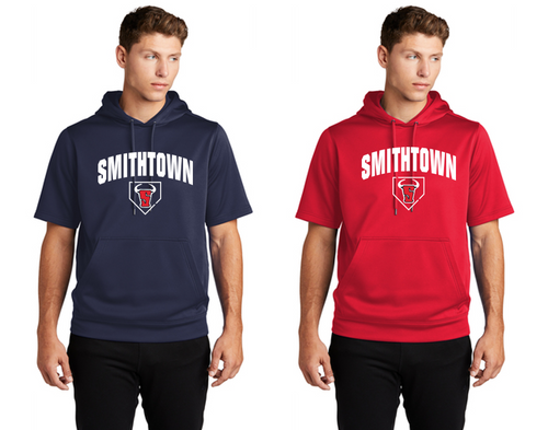 Fleece Short Sleeve Hoodie - Adult - Smithtown Youth Baseball