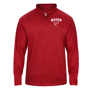 Tonal Blend Lightweight 1/4 Zip - Adult - George Mason Softball