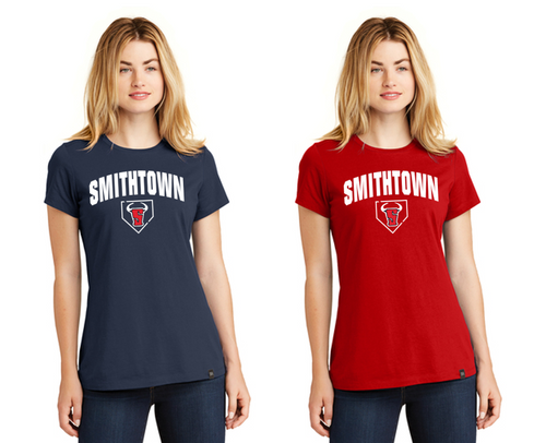New Era Ladies Heritage Blend Crew Tee - Smithtown Youth Baseball