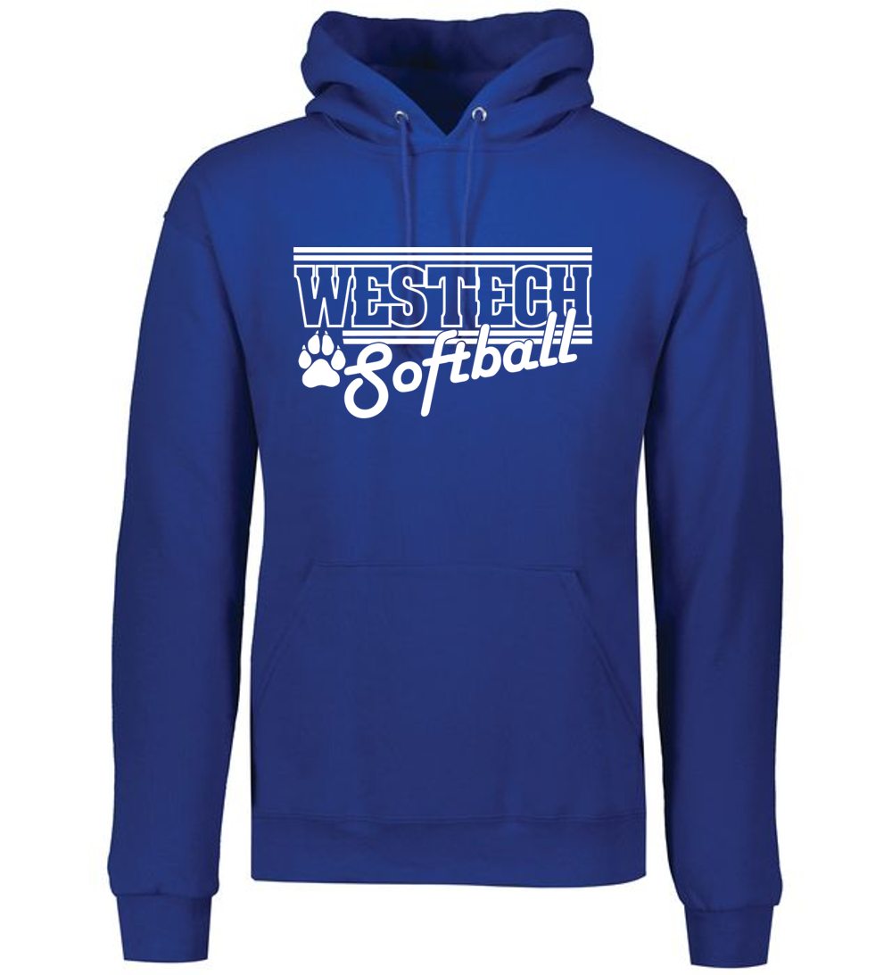 Fleece Pullover Hooded Sweatshirt - WESTECH SOFTBALL