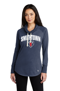 New Era Ladies Sueded Cotton Blend Cowl Tee - Smithtown Youth Baseball