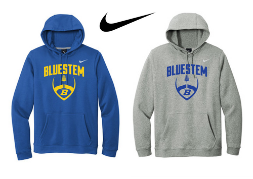 Nike Club Fleece Pullover Hoodie - Bluestem Football
