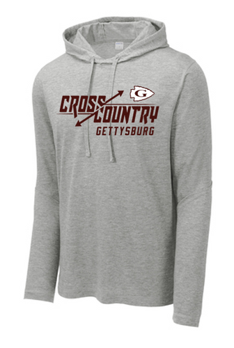 Tri-Blend Wicking Long Sleeve Hoodie - Gettysburg XC