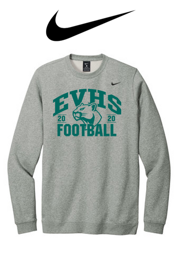 Nike Club Fleece Crew - EVERGREEN VALLEY FOOTBALL