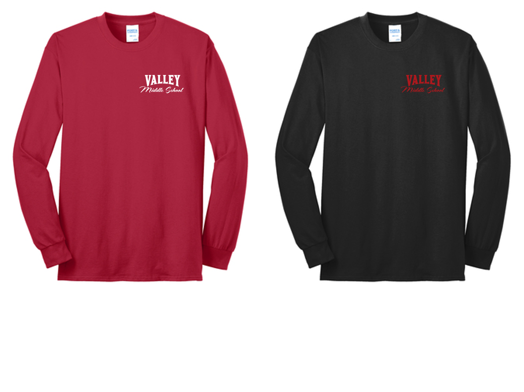 Long Sleeve Core Blend Tee - Valley Middle School Staff