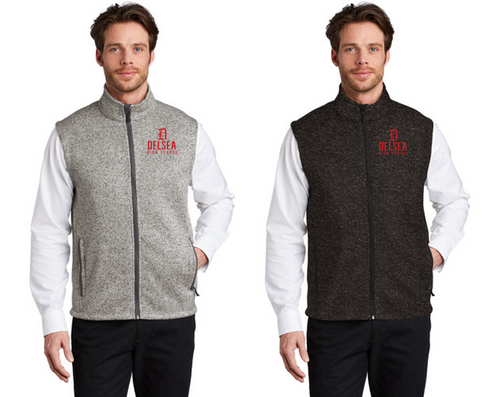 Adult Sweater Fleece Vest - Delsea Staff