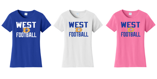 Ladies Fan Favorite Tee - Downingtown West Football