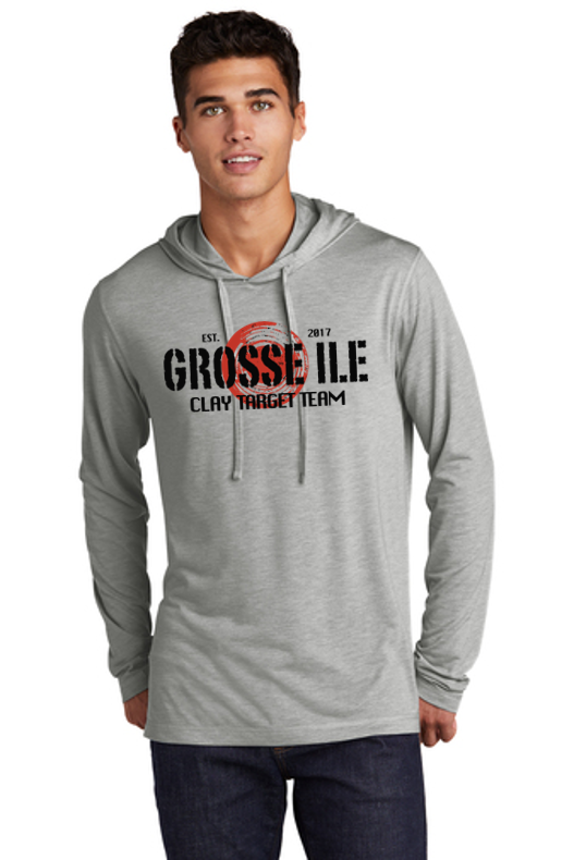Tri-Blend Wicking Long Sleeve Hoodie - GROSSE ILE TRAP SHOOTING