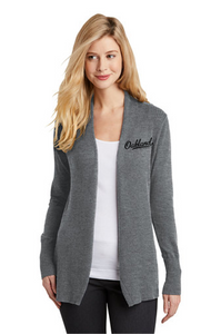 Open Front Cardigan Sweater - Ladies - OAKLAND SCHOOLS