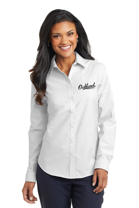 Long Sleeve Easy Care Shirt - LADIES - OAKLAND SCHOOLS