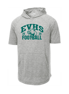 Tri-Blend Short Sleeve Hoodie - EVERGREEN VALLEY FOOTBALL