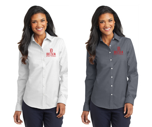 Long Sleeve Easy Care Shirt - LADIES - Delsea Staff