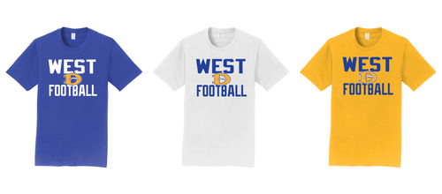 Fan Favorite Tee - Downingtown West Football