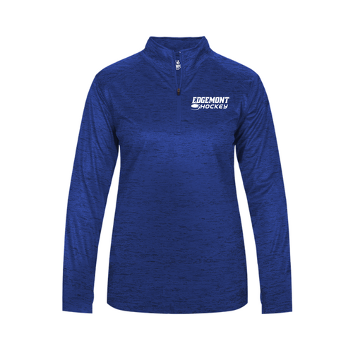 TONAL BLEND 1/4 ZIP (Lightweight) - LADIES - Edgemont Hockey