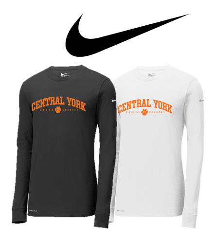 Adult Nike Dri-FIT Long Sleeve - Central York XC