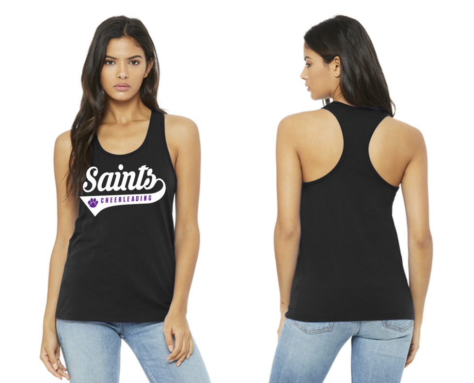 BELLA+CANVAS  Women's Jersey Racerback Tank - Saints Cheerleading
