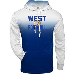 OMBRE HOODIE - Downingtown West Football