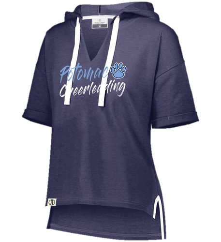LADIES SHORT SLEEVE HOODIE - Potomac Cheer