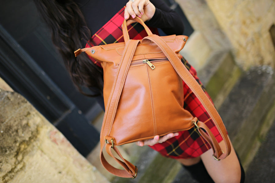 Bella Backpack in Brown Leather