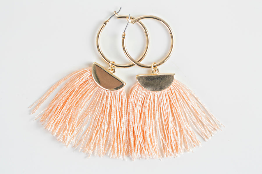Pink Tassel Earrings | Dusty Pink