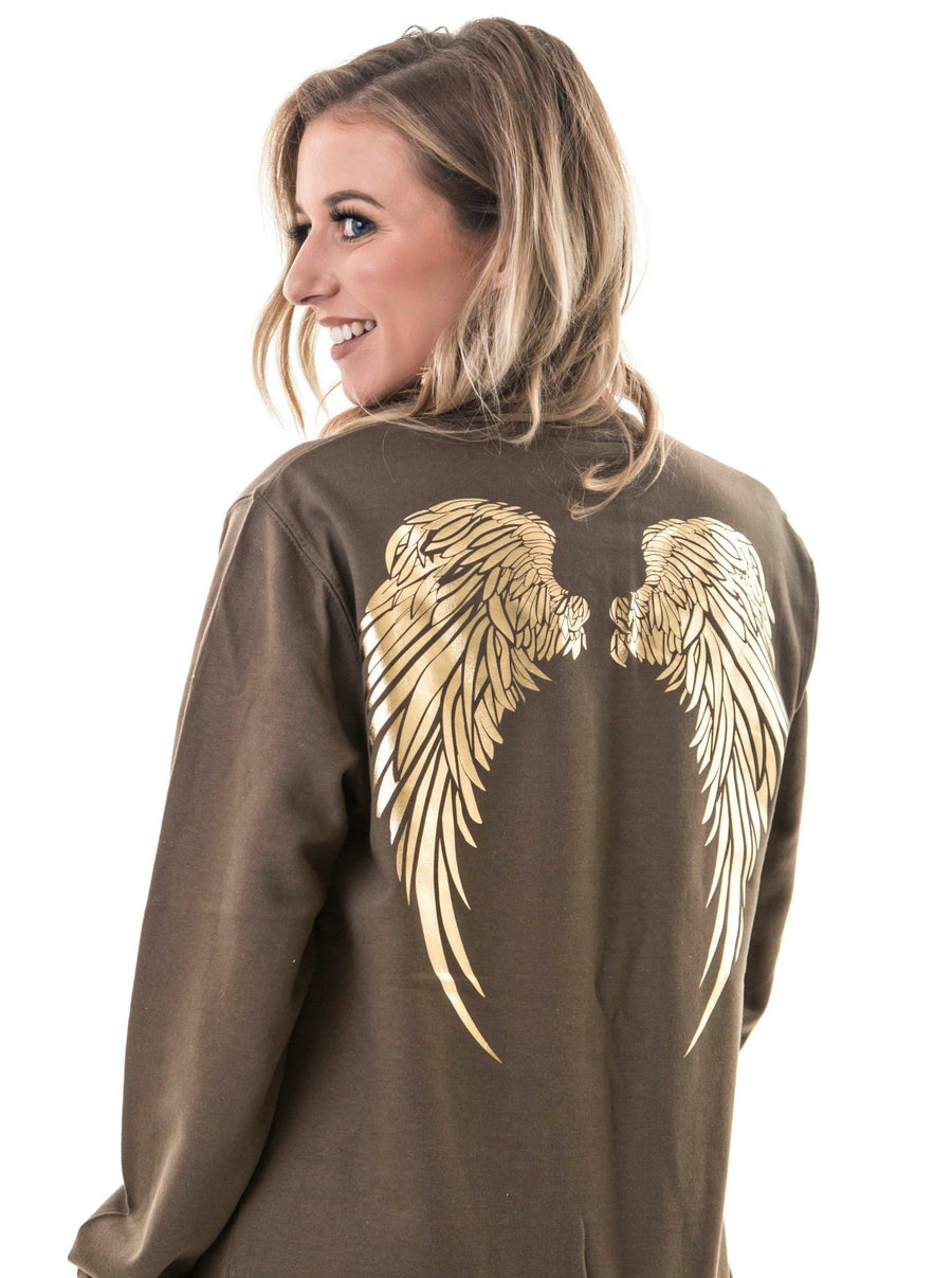 Angel Wings Jumper | Khaki Green