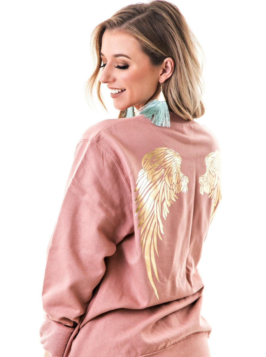 Angel Wings Jumper | Dusty Pink