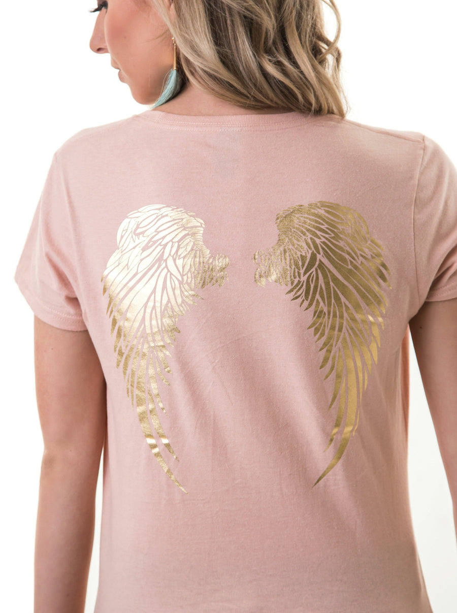 Angel Wings T-Shirt | Dusty Pink
