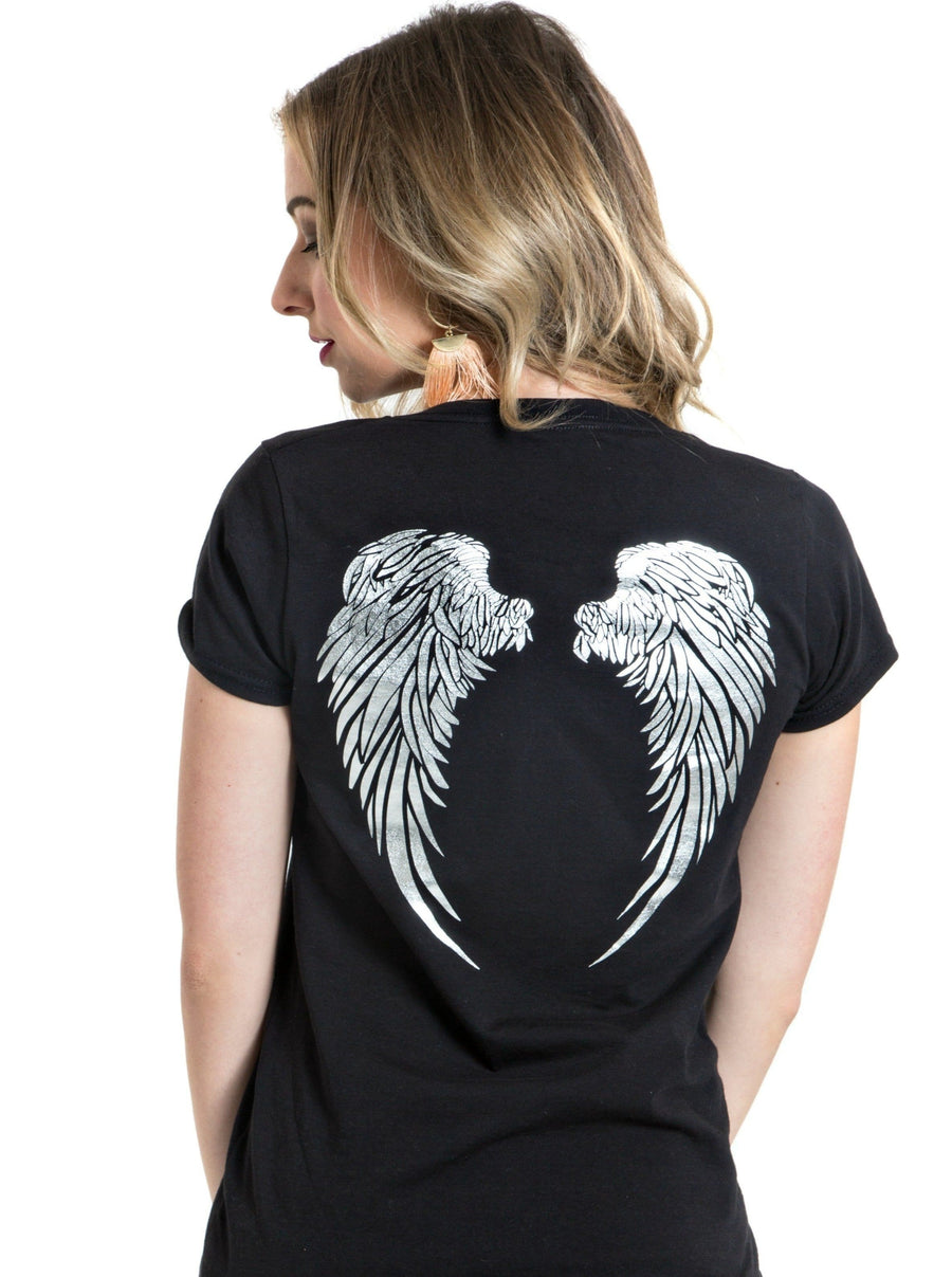 Angel Wings T-Shirt | Black
