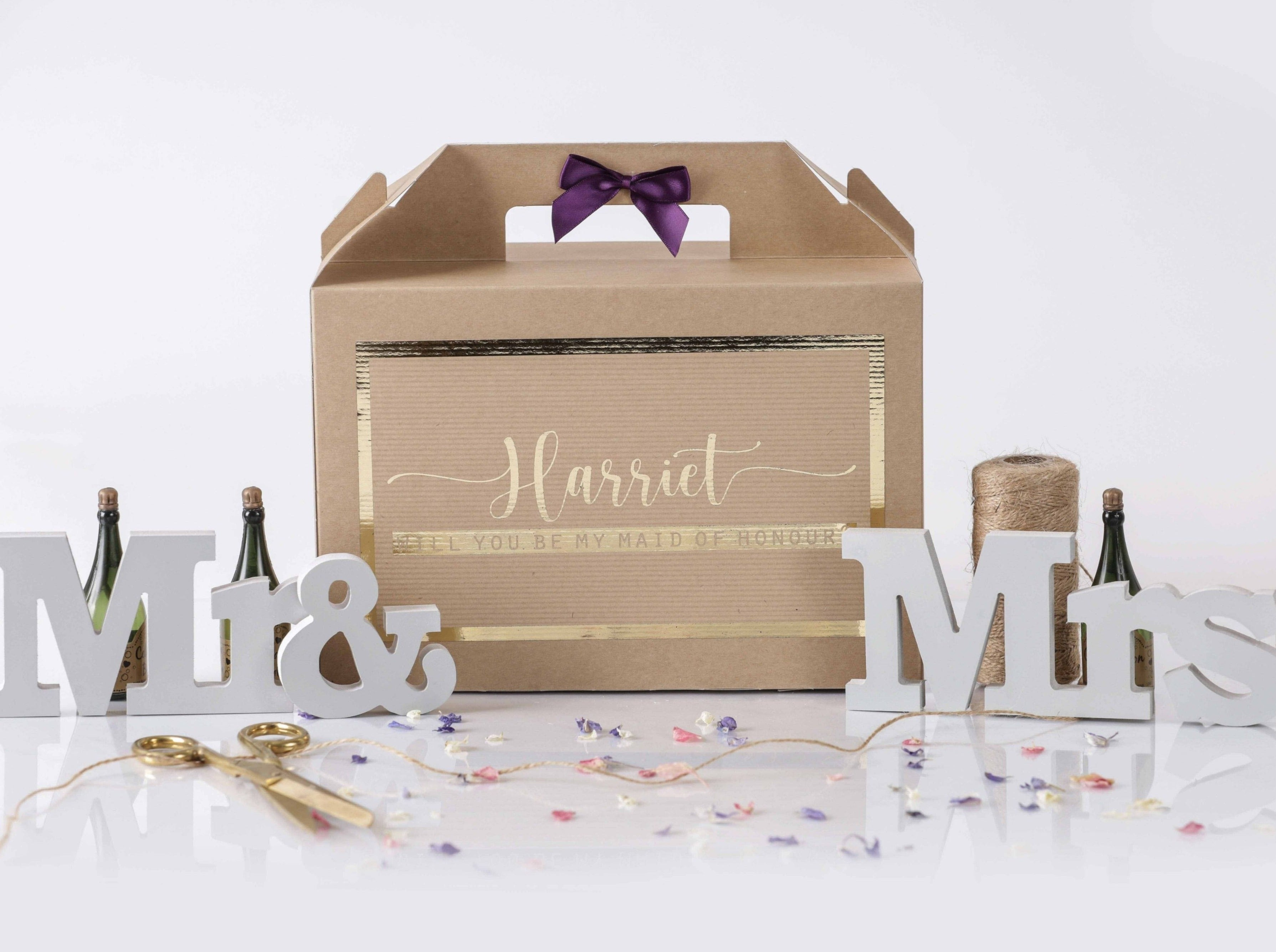 'Will You Be My Maid of Honour' Gift Box