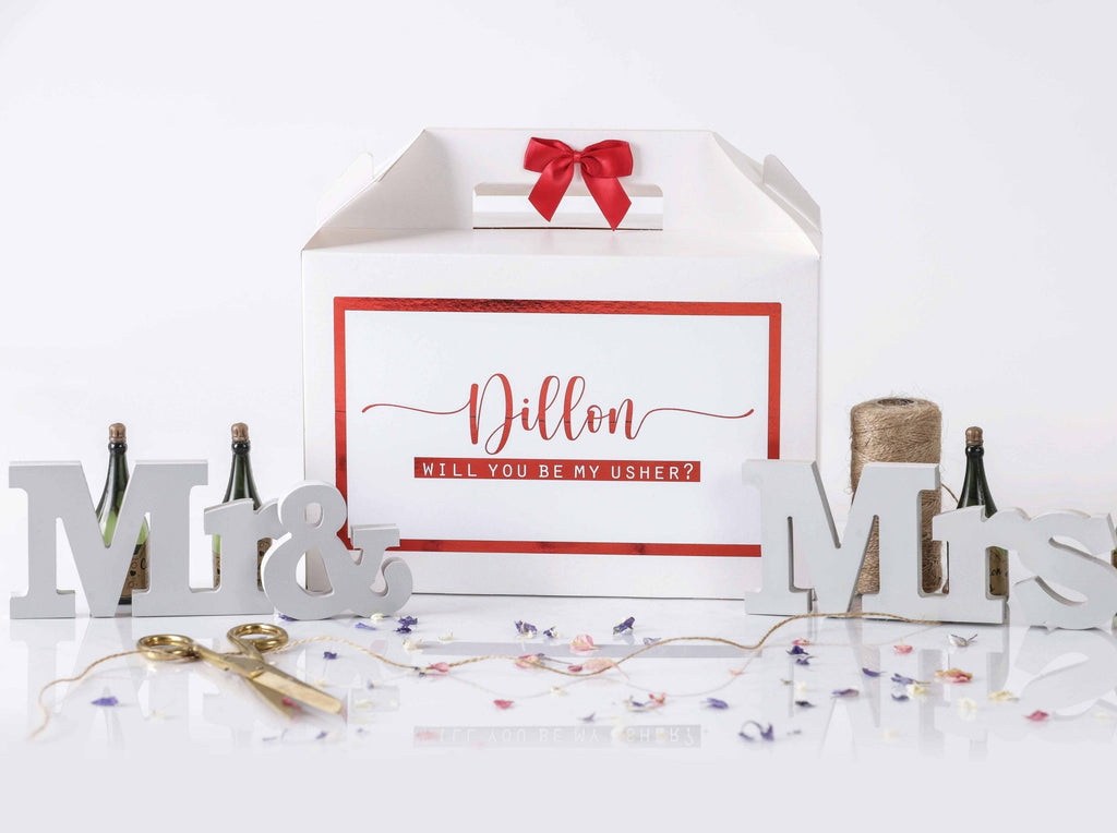 'Will You Be My Usher' Gift Box
