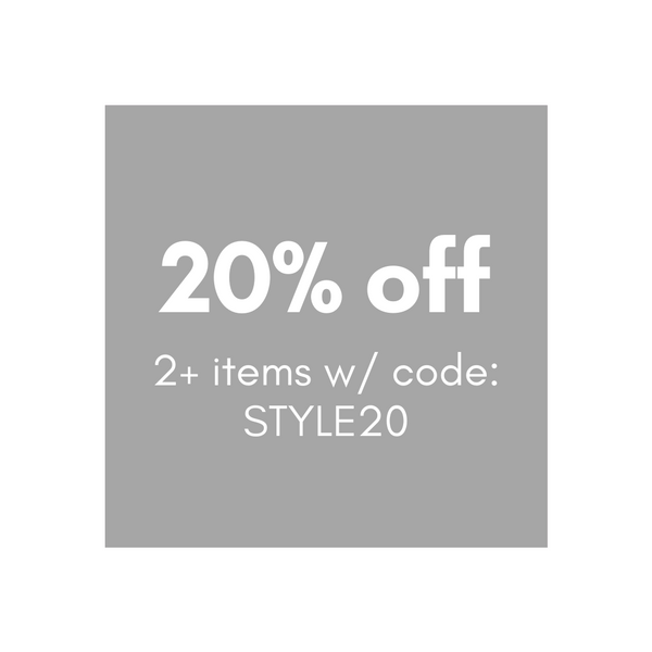 Get 20% off when you purchase 2 or more items