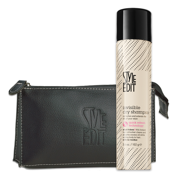 Style Edit Cosmetic Bag & Invisible Dry Shampoo Duo