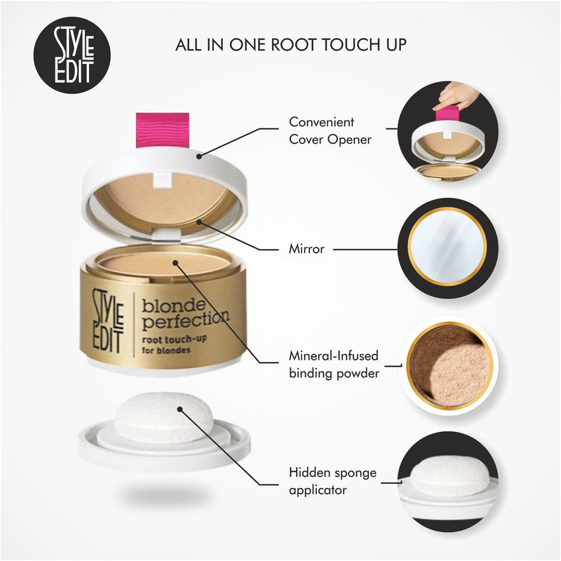 Style Edit Blond Perfection Root Touch-Up Powder How to Use