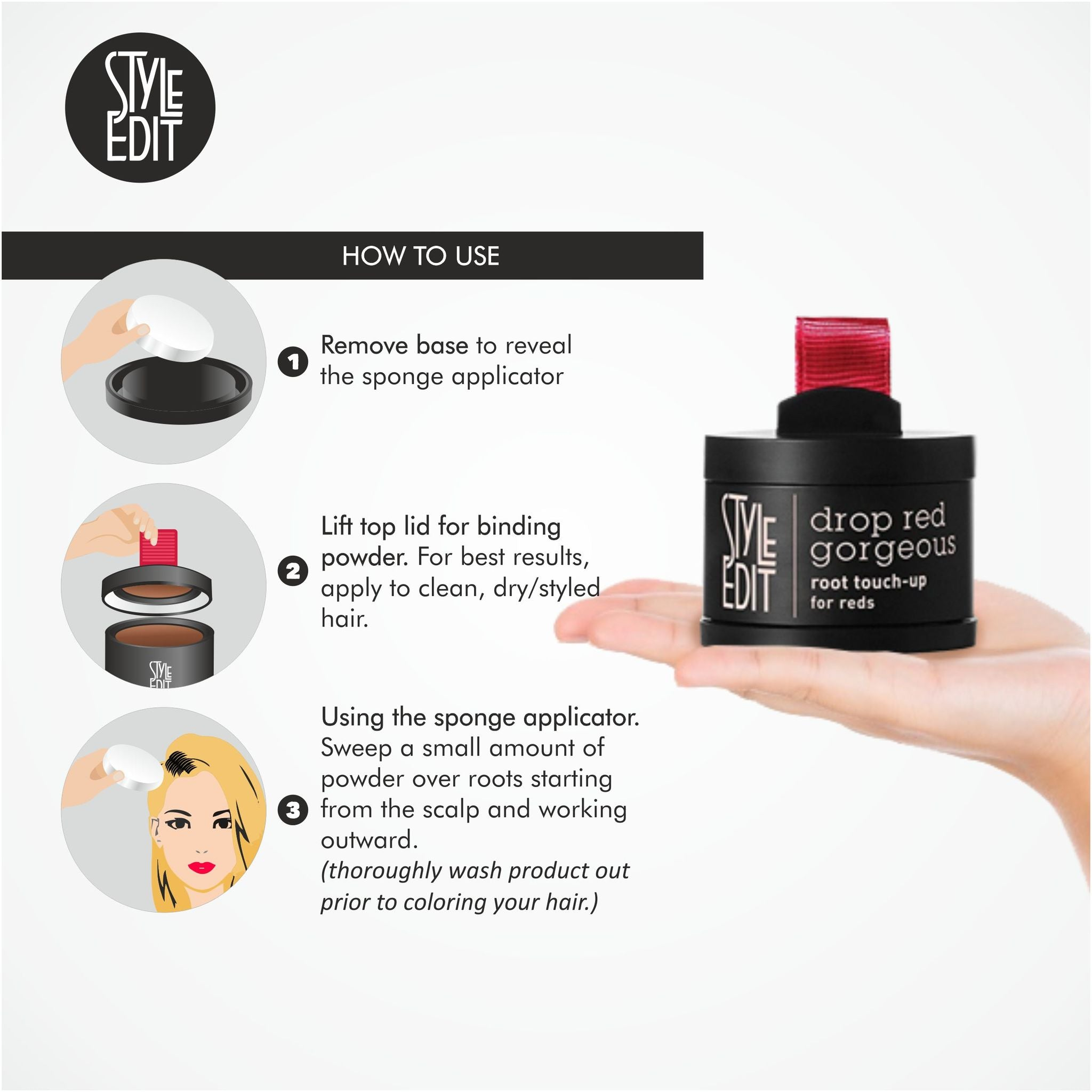 Style Edit Drop Red Gorgeous Root Touch Up Powder data-zoom=