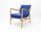 Franquin Chair Blue Leather