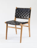 Limbricht Dining Chair (Black Leather Strapping)