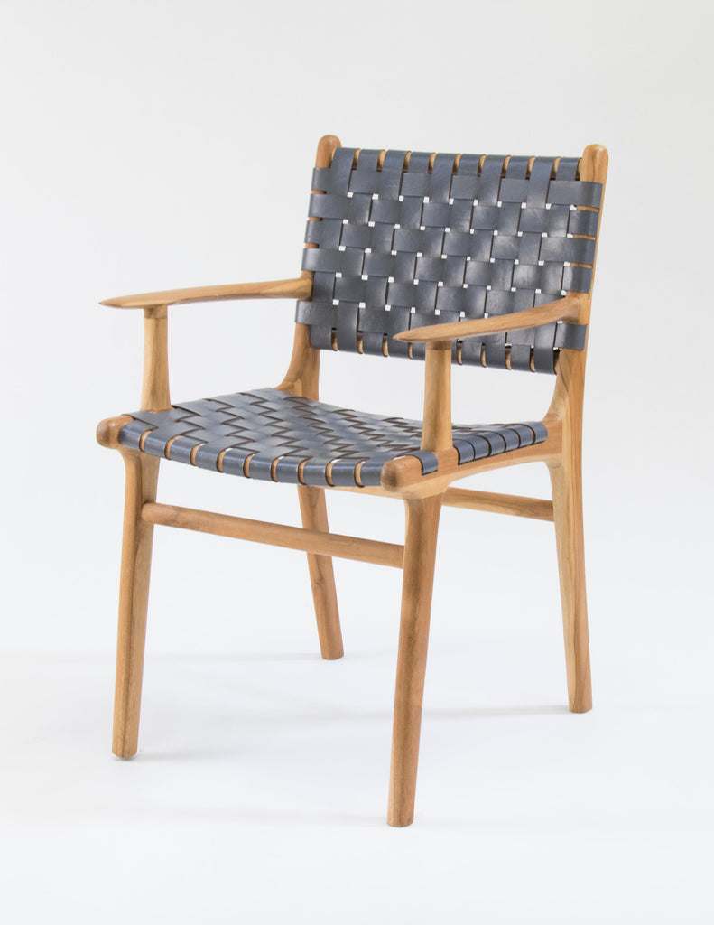 Limbricht Arm Chair (Grey Leather Strapping)