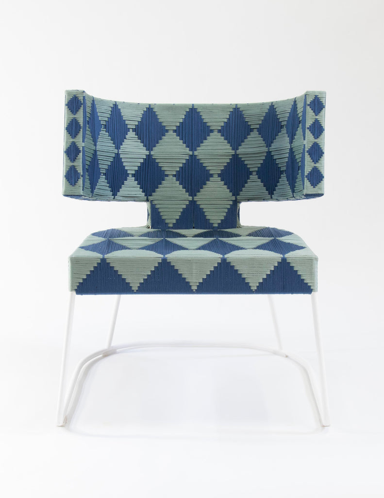 Arusha Woven Rope Chair (Blue)