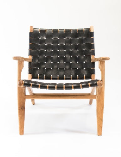 Maarsveld Arm Chair (Black Leather Strapping)