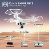 40Mins Flight Time Drone, JJRC H68 RC Drone with 720P HD Camera Live Video - Zenith Solutions